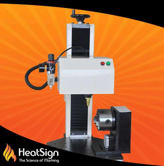 HS-DP01-R Rotary Pneumatic Dot Peen Marker For circle surface mark | HeatSign - dot peen marking
