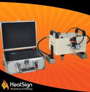 Portable dot pin marker; HeatSign; dot peen marking