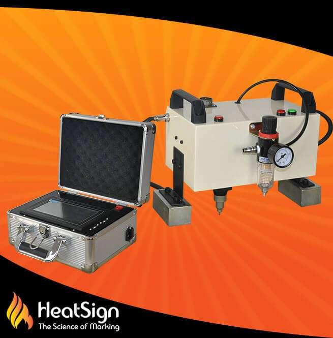 CNC HandHeld Dot Peen Marking Machine; HeatSign; dot peen marking