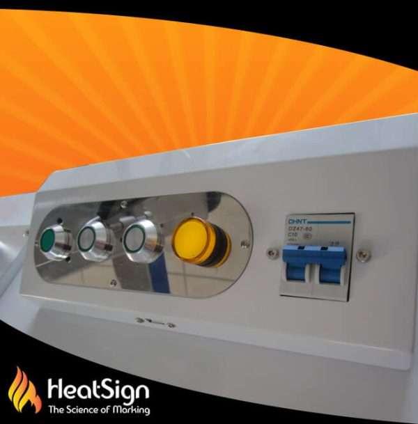 Fiber Laser engraver buttons   HeatSign - fiber laser engraver