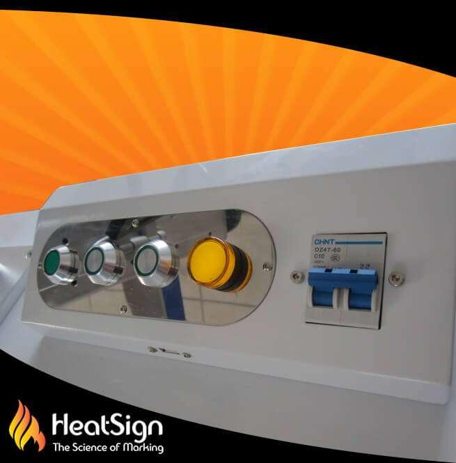 Fiber Laser engraver buttons | HeatSign - fiber laser engraver