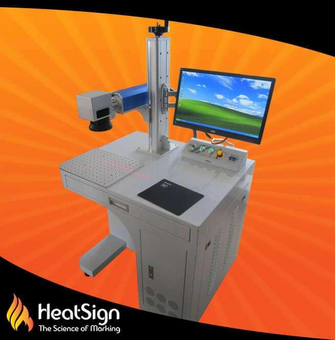 High Speed 20w Fiber Laser Marking Machine Supplier Heatsign
