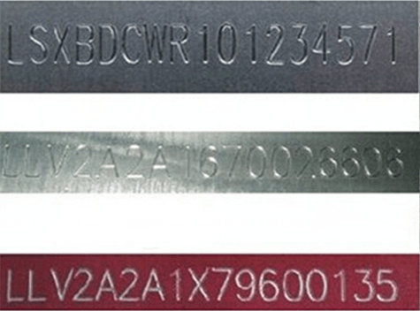 chassis number marking