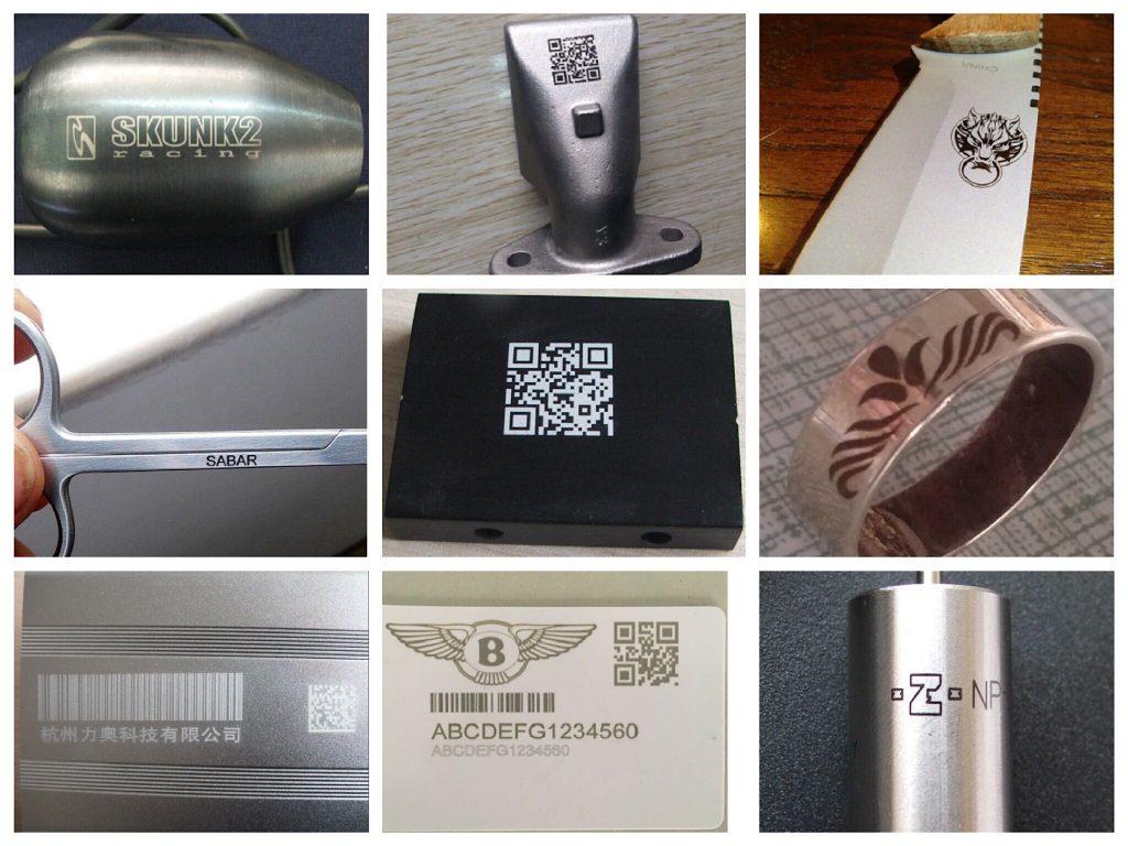 fiber laser engraving samples