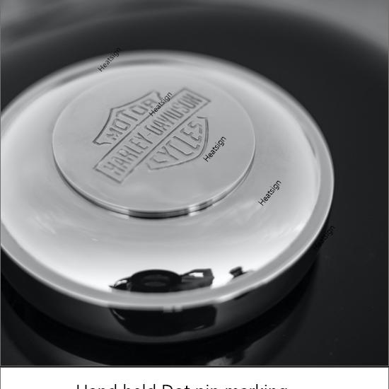 dot pin marking and engraving on metak cap