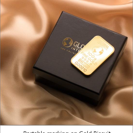 laser marking on gold