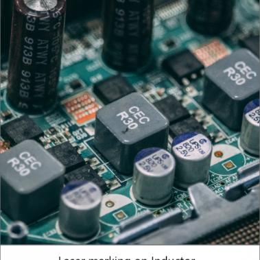 laser marking on ultrasmall capacitor