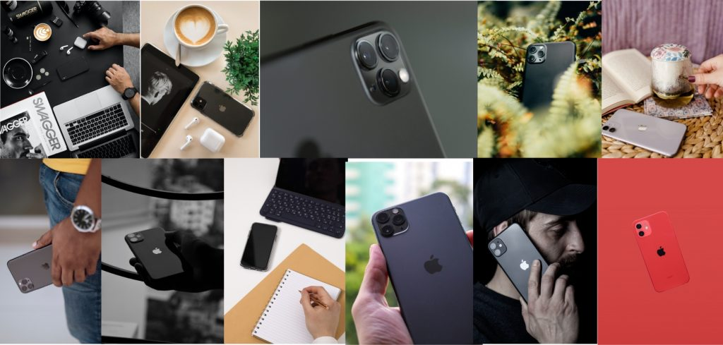 marketing and styling of iphone