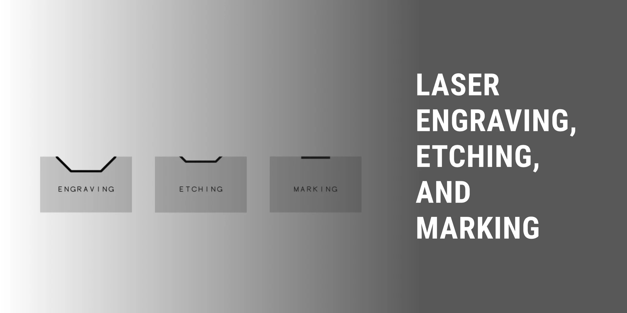 differences between laser marking, etching, and engraving