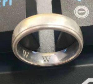 silver ring engraving